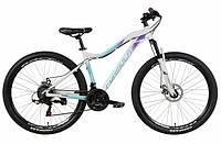 """Жіночий велосипед гірський FORMULA MYSTIQUE AL 1.0 AM DD 27.5""""(біло-бірюзовий з фіолетовим), фото 1"""