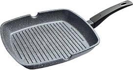 Сковорода-гриль Fissman Grey Stone 28х28 см с антипригарным покрытием Platinum psgFN-4978, КОД: 1479036