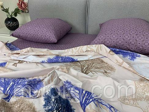 """""""природа"""" комплект постільної білизни; двоспальний 180/210, нав-ки 70/70, тканина сатин, 100% складається з бавовни, фото 2"""