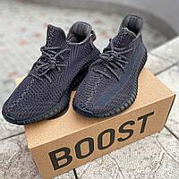Женские кроссовки Adidas Yeezy Boost 350 V2 Black (Адидас Изи Буст 350 Черные)