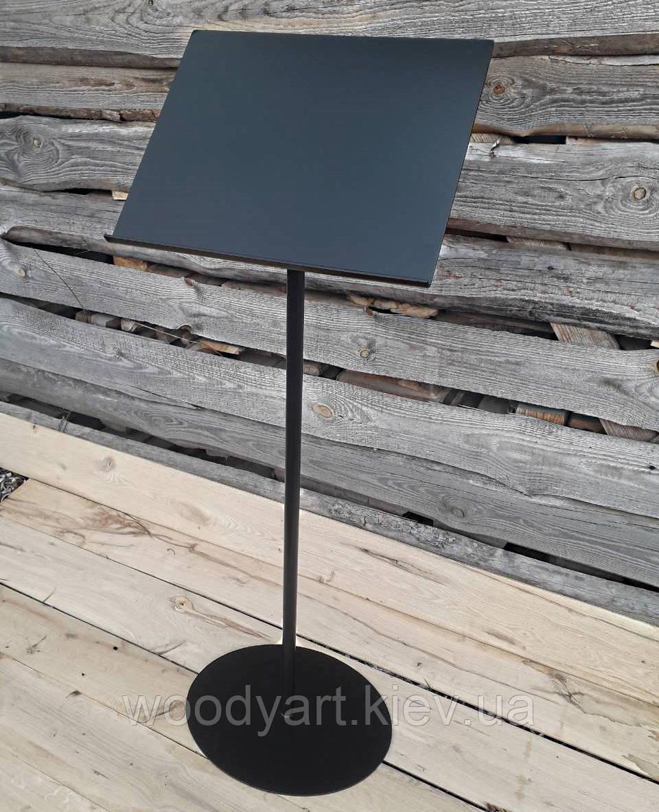 Информационная стойка для меню из металла