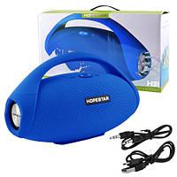 Bluetooth-колонка HOPESTAR-H31 BIG, StrongPower, c функцией speakerphone, радио, PowerBank, blue