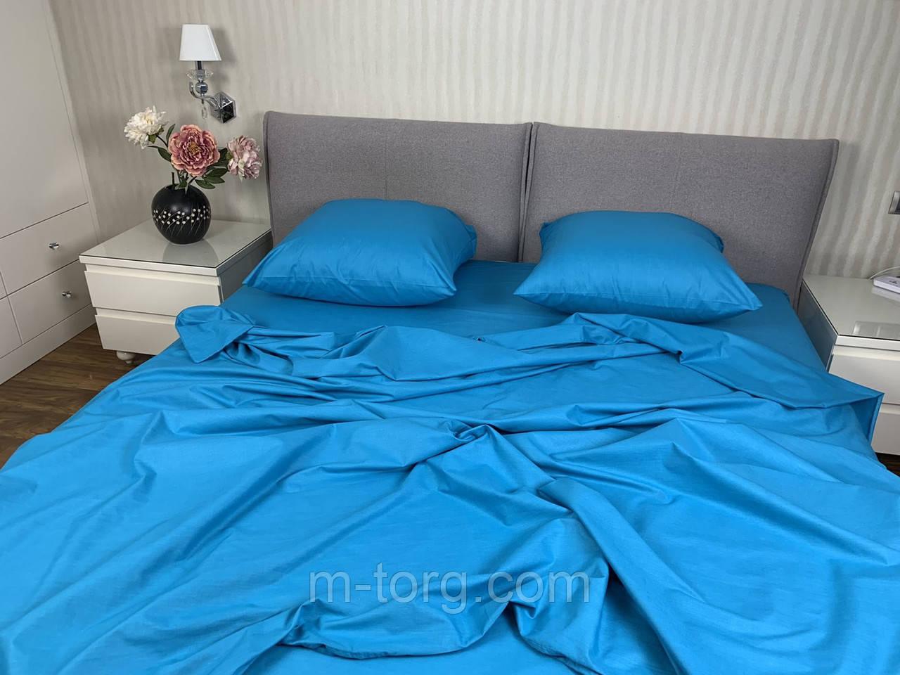 Комплект постельного белья евро размер 200/220 см, простынь 220/240 см, нав-ки 70/70,ткань бязь 100% хлопок