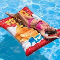"""Надувной матрас """"Картофельные чипсы"""" 58776, Intex,Пляжный матрас для плавания, Детский надувной круг для"""