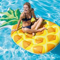 """Надувной плот """"Ананас"""" 58761, Intex,Пляжный матрас для плавания, Детский надувной круг для купания, Надувная"""