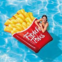 """Плот """"Картошка фри"""" 58775, Intex,Пляжный матрас для плавания, Детский надувной круг для купания, Надувная"""