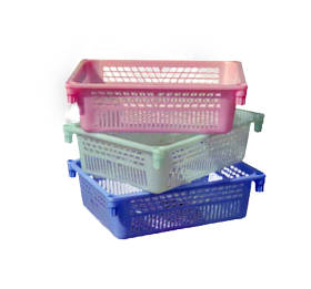 Ящик пластиковий для фруктів та ягід №2 100*300*395мм Консенсус