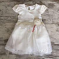 """Сукня дитяча з фатином """"ТРОЯНДОЧКА"""" для дівчинки 2-5 років,білого кольору"""