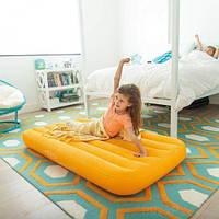 Матрас надувной, желтый 66803NP, Intex,Пляжный матрас для плавания, Детский надувной круг для купания,