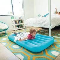 Матрас надувной, голубой 66803NP, Intex,Пляжный матрас для плавания, Детский надувной круг для купания,