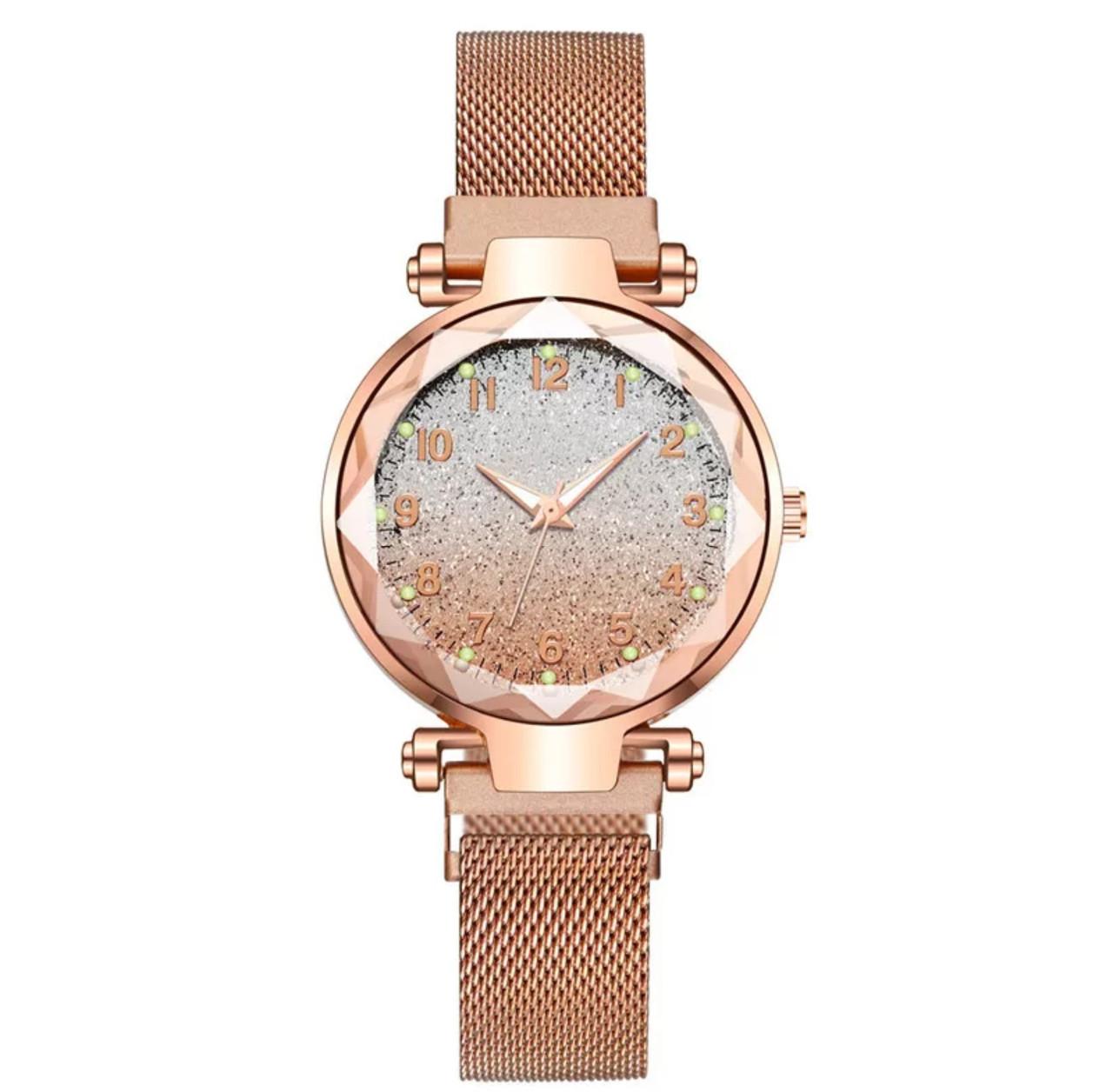 Часы женские  звёздное небо ремешок на магнитике 5 цветов