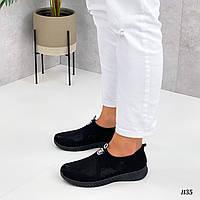 Женские кроссовки из текстиля 36-41 р чёрный