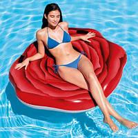 """Надувной матрас """"Роза"""" 58783, Intex,Пляжный матрас для плавания, Детский надувной круг для купания, Надувная"""