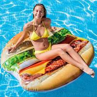 """Надувной матрас """"Гамбургер"""" 58780, Intex,Пляжный матрас для плавания, Детский надувной круг для купания,"""