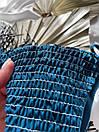 Женский изумрудный купальник раздельный 2021 Красивый модный стильный Купальник-бикини жатка на бретельках, фото 3