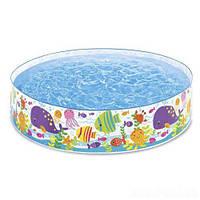 Детский каркасный бассейн 56452, Intex,Басейн каркасний, Бассейн каркасный пластиковый, Бассейн для малышей,