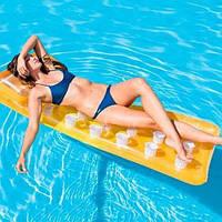 Надувной матрас с подушкой (оранжевый) 58890, Intex,Пляжный матрас для плавания, Детский надувной круг для