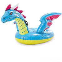 """Надувной плотик """"Дракон"""" 57563, Intex,Пляжный матрас для плавания, Детский надувной круг для купания, Надувная"""