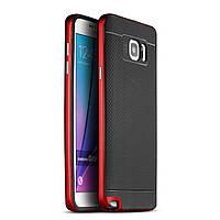 Чехол накладка IPAKY TPU + бампер PC для Samsung Galaxy Note 5 N920 красный