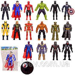 Герои Avengers батар. HF888-5AB (360шт 2)18видов, свет,  в пакете  22*14,5см