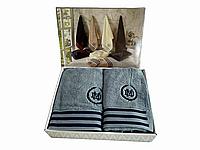 Набор полотенец Maison D'or Delon Blue Navy махровые 30-50 см,50-100 см,70-140 см индиго