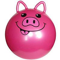 Мяч для фитнеса MS 0937 с ушками (Свинка),Шар для йоги, Мяч для фитнеса для беременных, Мяч для фитнеса