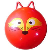 Мяч для фитнеса MS 0937 с ушками (Лиса),Шар для йоги, Мяч для фитнеса для беременных, Мяч для фитнеса