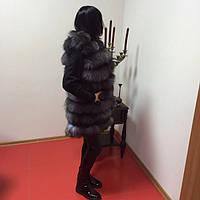 Жилет из чернобурки женский