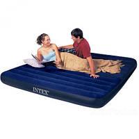 Матрас надувной велюровый, 183х203х25 см. 64755, Intex,Пляжный матрас для плавания, Детский надувной круг для