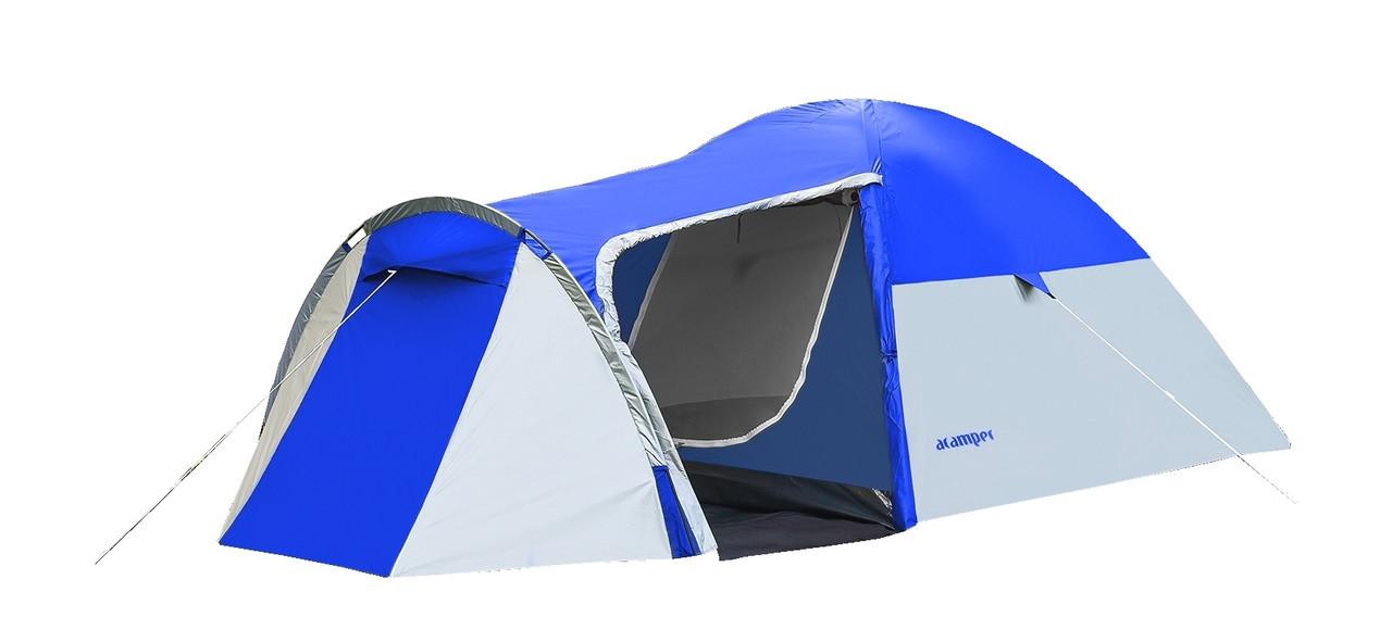 Намет 3-х місна Presto Acamper MONSUN 3 PRO синя - 3500мм. Н2О - 3,4 кг