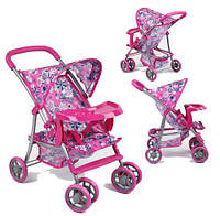 """Коляска прогулочная для кукол """"Цветочки 2"""" 9304BW-T,Игрушки для девочек, Іграшки для девочек, Аксесуары для"""