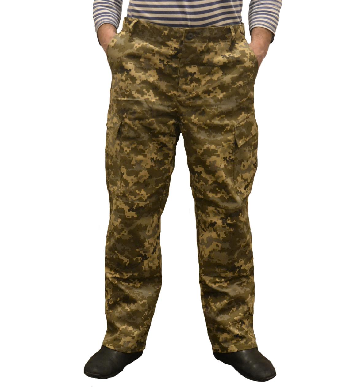 Штаны Американская военная форма — реплика 100 х/б, пиксель ЗСУ