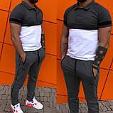 Мужской спортивный костюм двойка футболка+штаны ткань турецкая кулирка размеры: с, м, л, хл, 2хл., фото 3