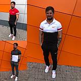 Мужской спортивный костюм двойка футболка+штаны ткань турецкая кулирка размеры: с, м, л, хл, 2хл., фото 4