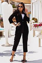 Костюм женский летний льняной жакет и брюки, фото 3