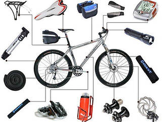 Велосипедные аксессуары, запчасти, инструмент