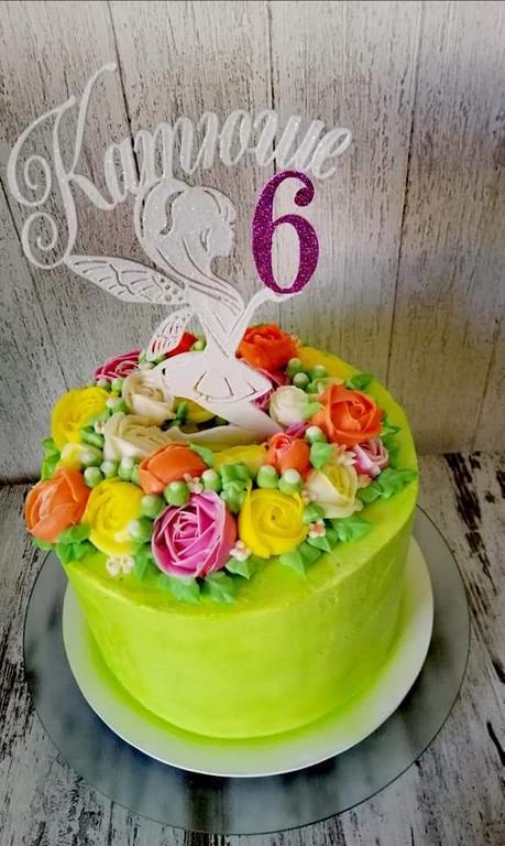 Тортик для девочки на 6 лет с индивидуальным топпером фея
