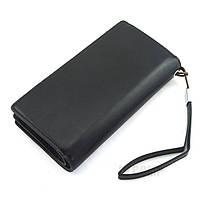 Стильный мужской кожаный клатч, кошелек. Черный. Baellerry Business. Балери, фото 7