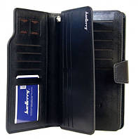 Стильный мужской кожаный клатч, кошелек. Черный. Baellerry Business. Балери, фото 9