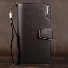 Стильний чоловічий шкіряний клатч, гаманець. Коричневий. Baellerry Business. Балери