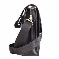 Якісна чоловіча сумка через плече Polo Videng, поло. Чорна. 24x21x7, фото 3