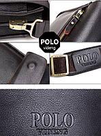 Якісна чоловіча сумка через плече Polo Videng, поло. Чорна. 24x21x7, фото 10