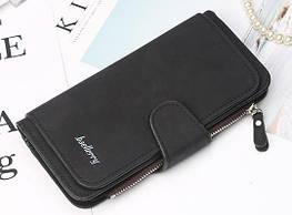 Жіночий гаманець, клатч Baellerry Forever, балери. Чорний. Замша