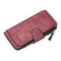 Жіночий гаманець, клатч Baellerry Forever, балери. Бордовий. Замша, фото 6