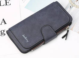 Жіночий гаманець, клатч Baellerry Forever, балери. Темно-синій. Замша
