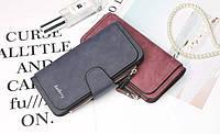 Жіночий гаманець, клатч Baellerry Forever, балери. Темно-синій. Замша, фото 6