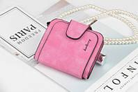 Жіночий гаманець, клатч Baellerry Forever Mini, балери. Яскраво рожевий. Замша PU, фото 2