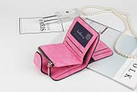 Жіночий гаманець, клатч Baellerry Forever Mini, балери. Яскраво рожевий. Замша PU, фото 5