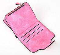 Жіночий гаманець, клатч Baellerry Forever Mini, балери. Яскраво рожевий. Замша PU, фото 8