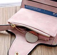 Жіночий гаманець, клатч Baellerry Forever Mini, балери. Пудровий. Замша PU, фото 4
